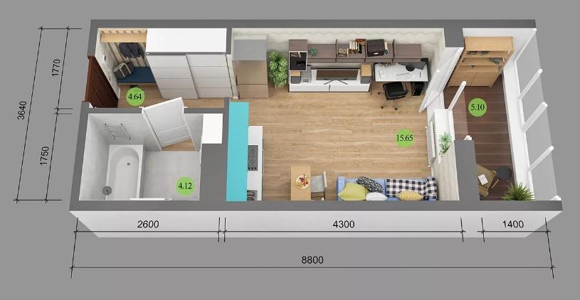 Реальная площадь квартиры больше или меньше,