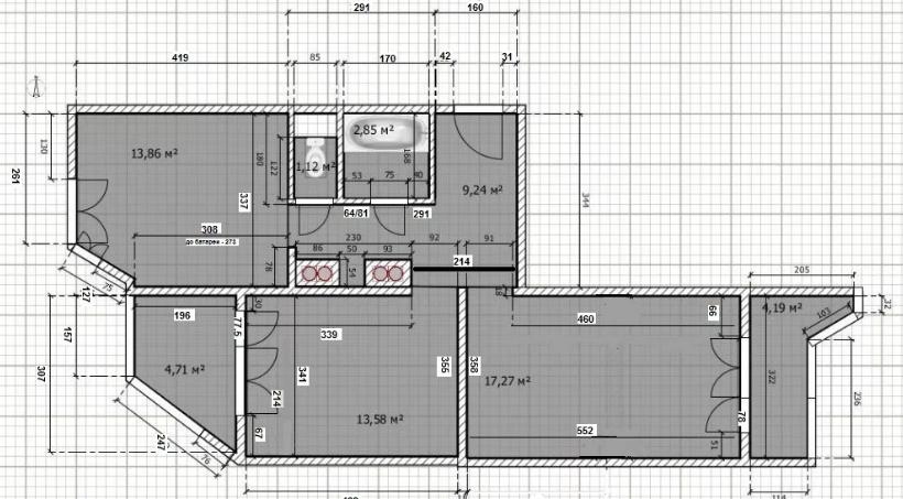 Реальная площадь квартиры больше или меньше